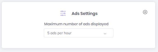 Brave Browser- Brave Rewards Ad Settings