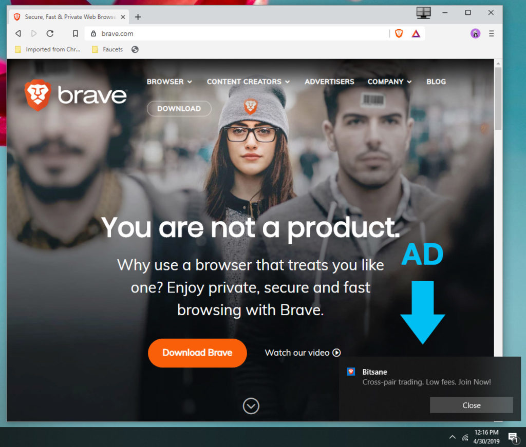 View Private Ads on Brave Browser and Get Paid BAT