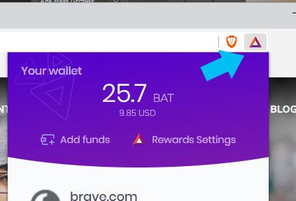 Brave Browser- Brave Rewards Settings